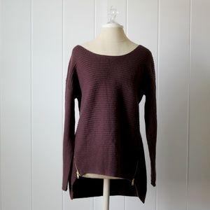 Bar III Burgundy Wool Chunky Oversized Sweater L